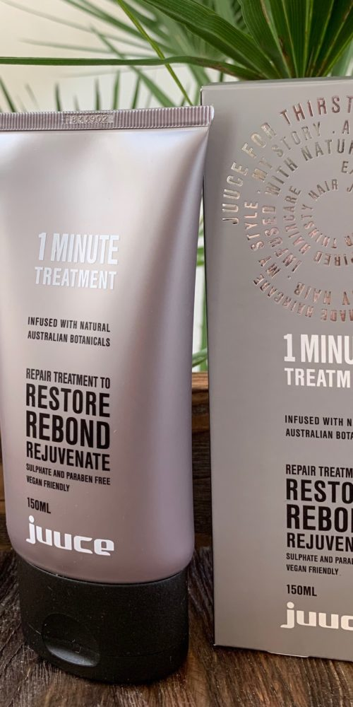 Juuce 1 Minute Treatment wegańska kuracja odbudowująca włosy